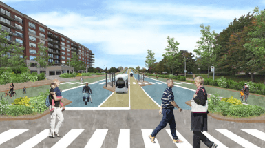 Visualization of the extension of Cavendish Boulevard by Oroboro