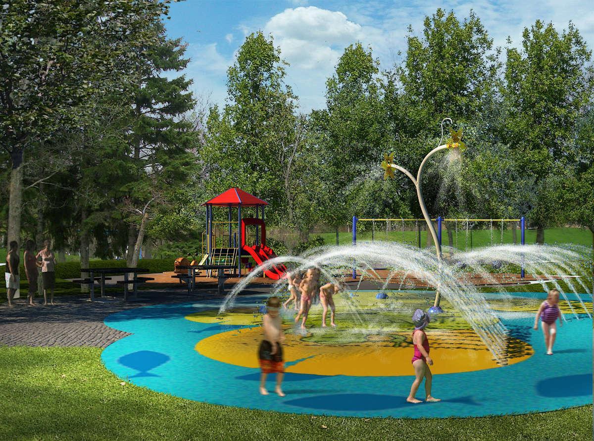 Jeux d'eau au parc Rembrandt