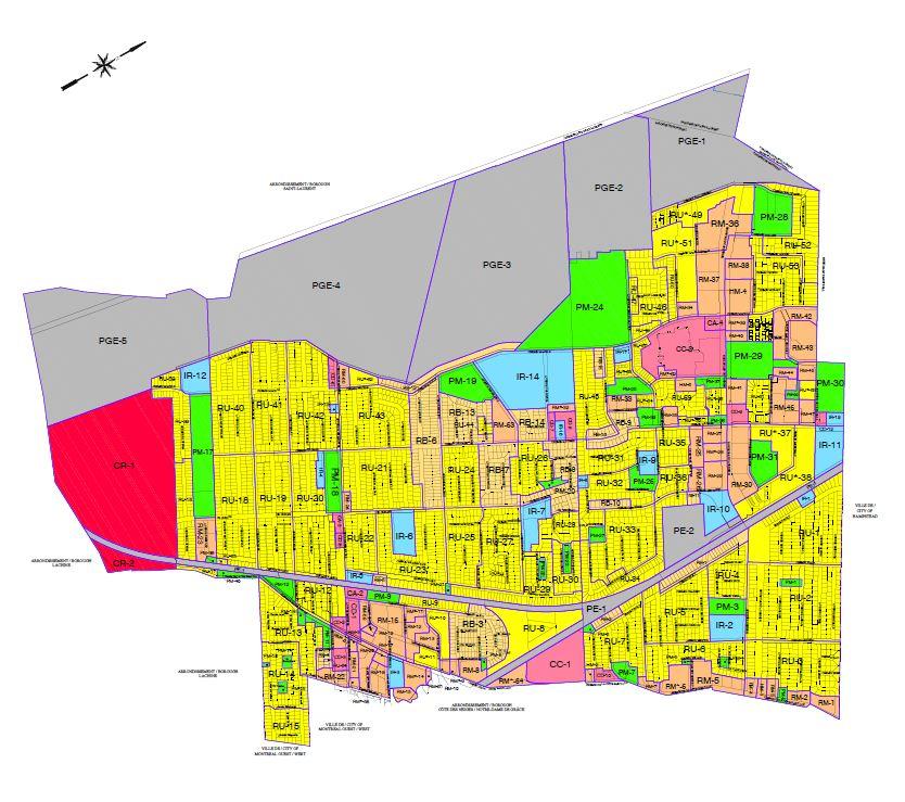 Map of zoning plan