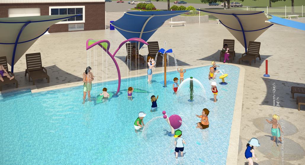 Parkhaven Wading Pool, artists rendition