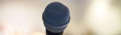 Closeup of a mic