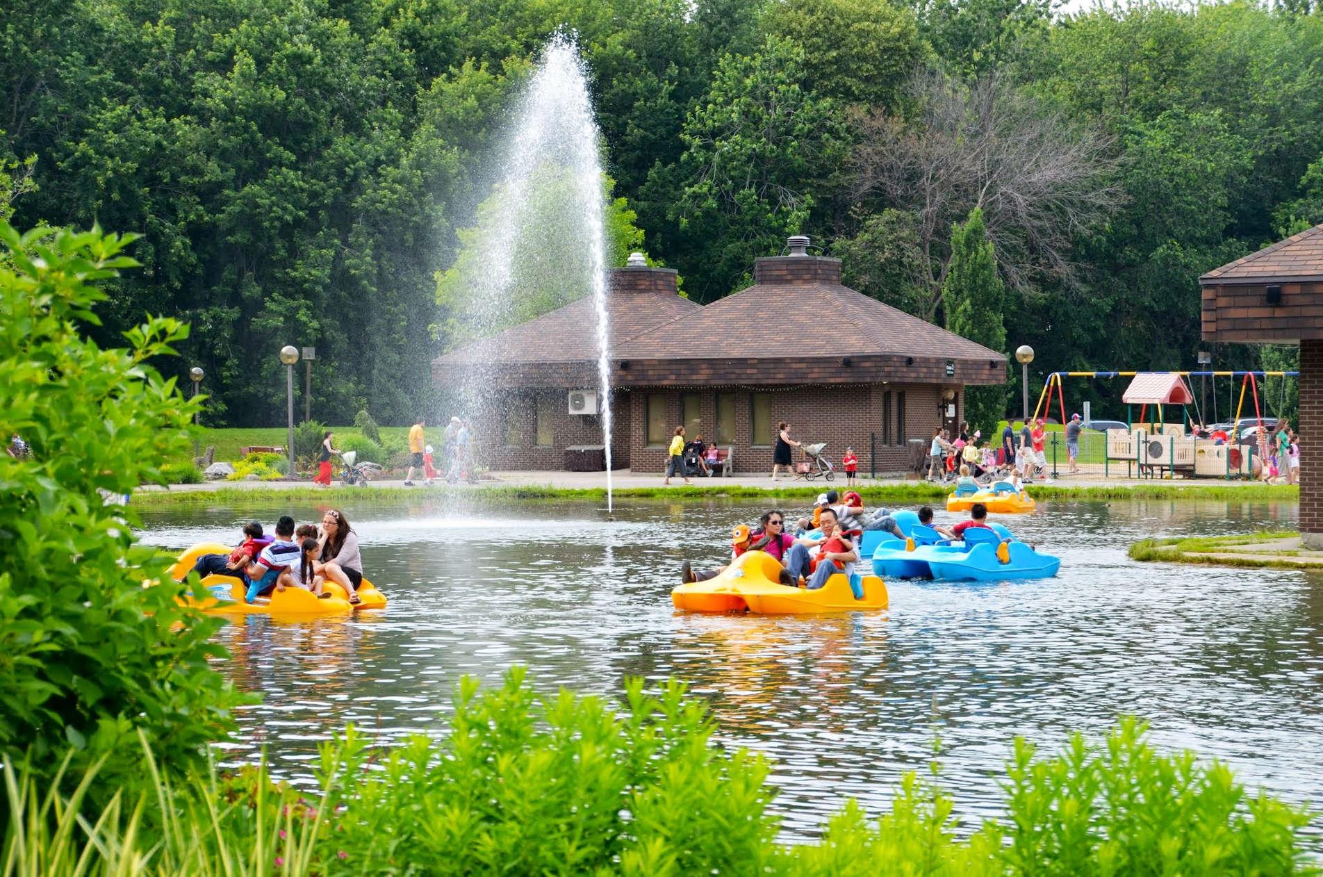 Pedal boats at Pierre Elliott Trudeau Park