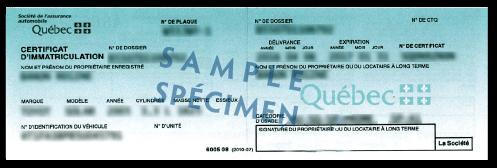 Vehicle registration sample